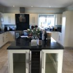 Painting a maple kitchen in Tring, Hertfordshire