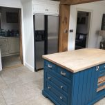 Painting a bespoke Oak kitchen in Fulmer, Buckinghamshire