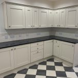 Painting a lovely wooden kitchen in Harpenden