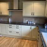 Painting a Magnet wooden kitchen in Hertfordshire
